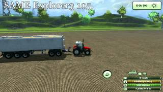 Farming Simulator 2013 - Tractor Comparison, Efficiency Testing