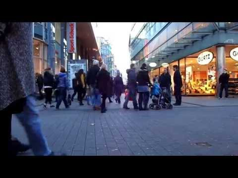 People getting around in Essen, Germany