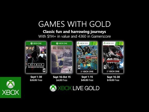 Hitman headlines September's Games with Gold selection