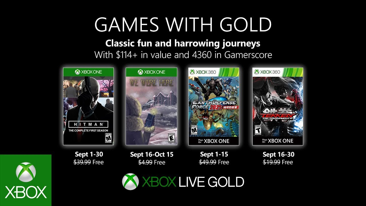 Xbox Gold Games October 2020.Xbox September 2019 Games With Gold