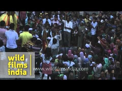Devotees celebrating Nanda Devi festival in Uttarakhand