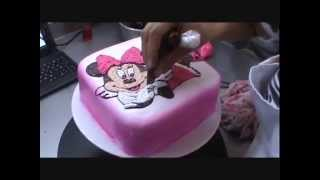 Cake minnie mouse., pastel de minnie mouse, muy linda!