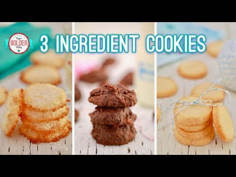 Three NEW 3-Ingredient Cookies | Gemmas Bigger Bolder Baking