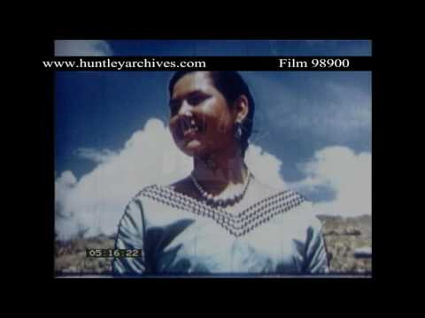 American Indians of New Mexico, 1950's.  Archive film 98900