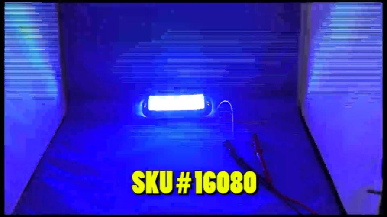 Blue LED Strobe Light - YouTube