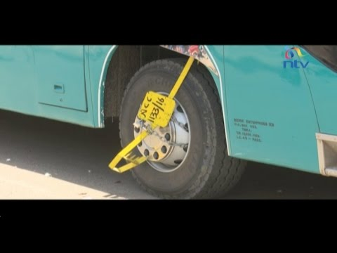 Nairobi County clamps Coast buses over unpaid parking levies