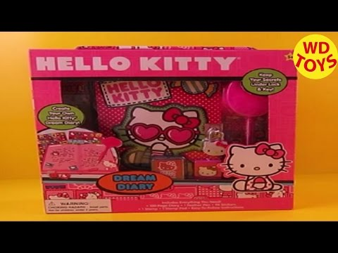 Hello Kitty Dream Diary Kit  Unboxing, Review By WD Toys