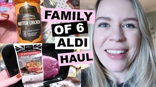 FAMILY OF SIX ALDI WEEKLY GROCERY HAUL | Kate+