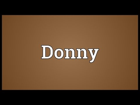 Donny Meaning