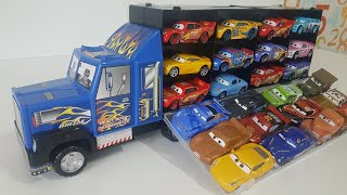 Toy Cars Transportation by Truck Hot Wheels Disney Cars Video for Kids