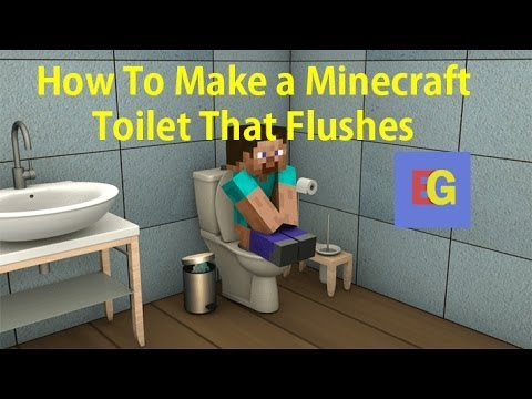 How To Make A Minecraft Toilet That Flushes Hd