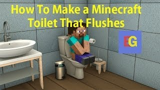how to make a toilet in minecraft pe that flushes