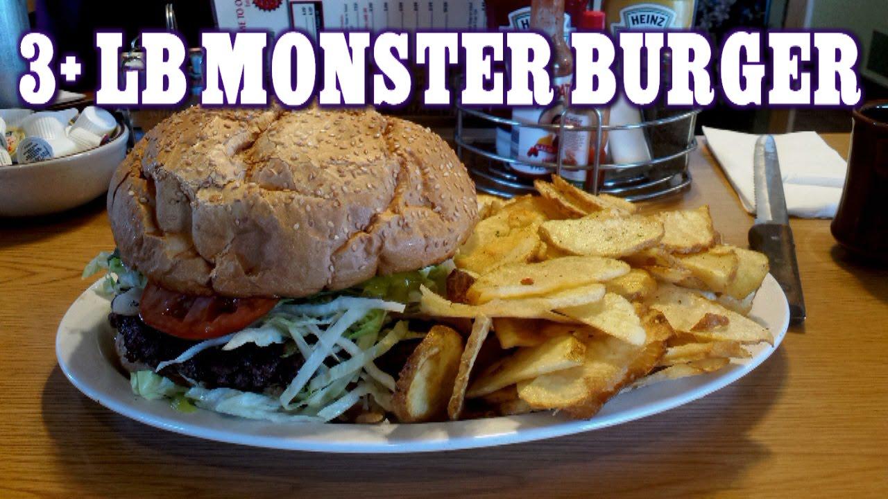Food Challenge 3 Lb Monster Burger Challenge The