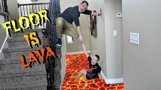 THE FLOOR IS LAVA WITH A FRIEND!