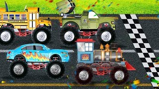 appMink Vehicle Competition Kart Racing Fire Rescue Police Car Bchool Bus 100 min kids video