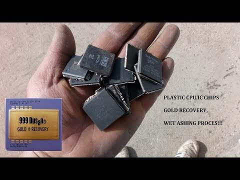 Plastic IC Procesors Chips Gold Recovery - Wet Ashing Proces!