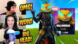 STREAMERS REACT TO *NEW* HOLLOWHEAD SKIN - Fortnite Best Moments & Fortnite Funny Moments #185