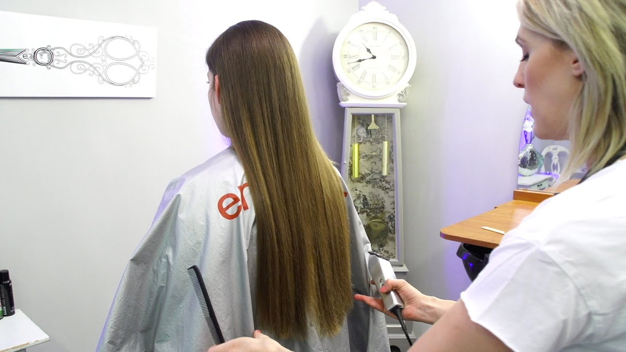 cut long hair with clippers