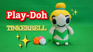 How to make super cute and easy play-doh Tinkerbell