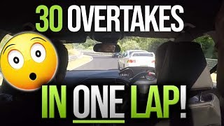 30 Overtakes in one lap of the Nürburgring! Peugeot 308 GTi 270 goes hot hatch hunting.