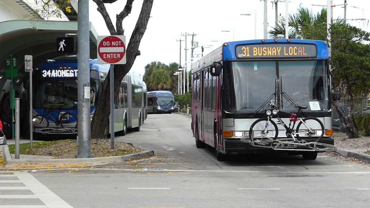 miami-dade transit metrobus: 2002 nabi 40-lfw route 31 bus #2150 at