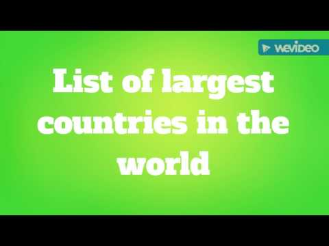List of Largest Countries in the World