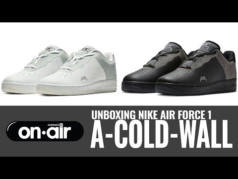 SBROnAIR Vol. 115 - Unboxing Nike Air Force 1 x A-COLD-WALL*