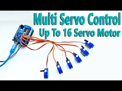 How to Control Servo Motor Up To 16 with Arduino Uno R3