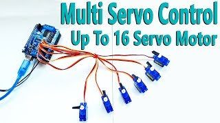 How to Control Servo Motor Up To 16 with Arduino Uno R3 | Mert Arduino and Tech
