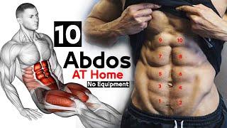 10 Abdos workout Home Excersice