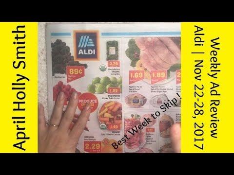 Weekly Ad Review   Aldi   Nov 22 -28, 2017   April Holly Smith