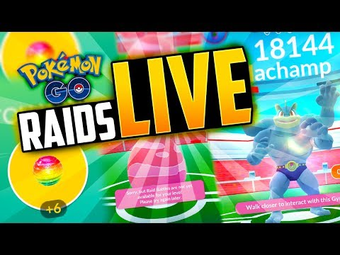 Pokemon Go - RAIDS ARE LIVE! (GYM RAIDS in Pokemon Go!)