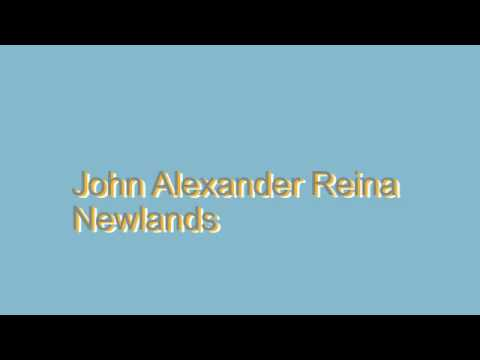 How to pronounce john alexander reina newlands youtube how to pronounce john alexander reina newlands urtaz Image collections