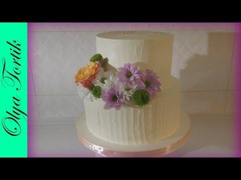 СВАДЕБНЫЙ ТОРТ Сборка и украшение свадебного торта Крем-чиз для торта