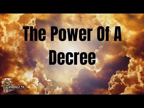 The Power Of A Decree   Job 22:28