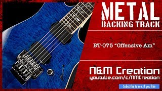 Melodious Hard Rock/Metal Backing Track in Am | BT-075