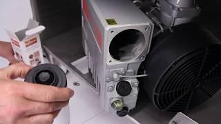 Vidange d'huile et changement de filtre - Machine sur socle à roulettes