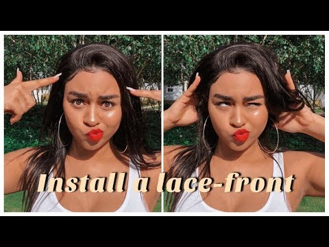 LACE FRONT WHERE??! || Invisilace Human Hair Lace-Front Wig Review Ft. Ashley // Ad