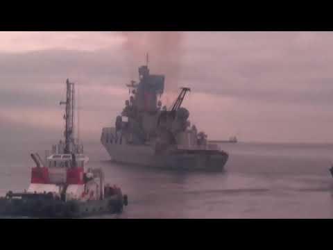 La Armada rusa se despide de Ceuta