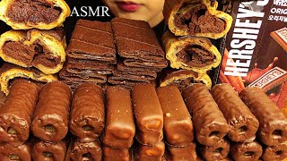 ASMR CHOCOLATE DESSERTS(CREPE,…