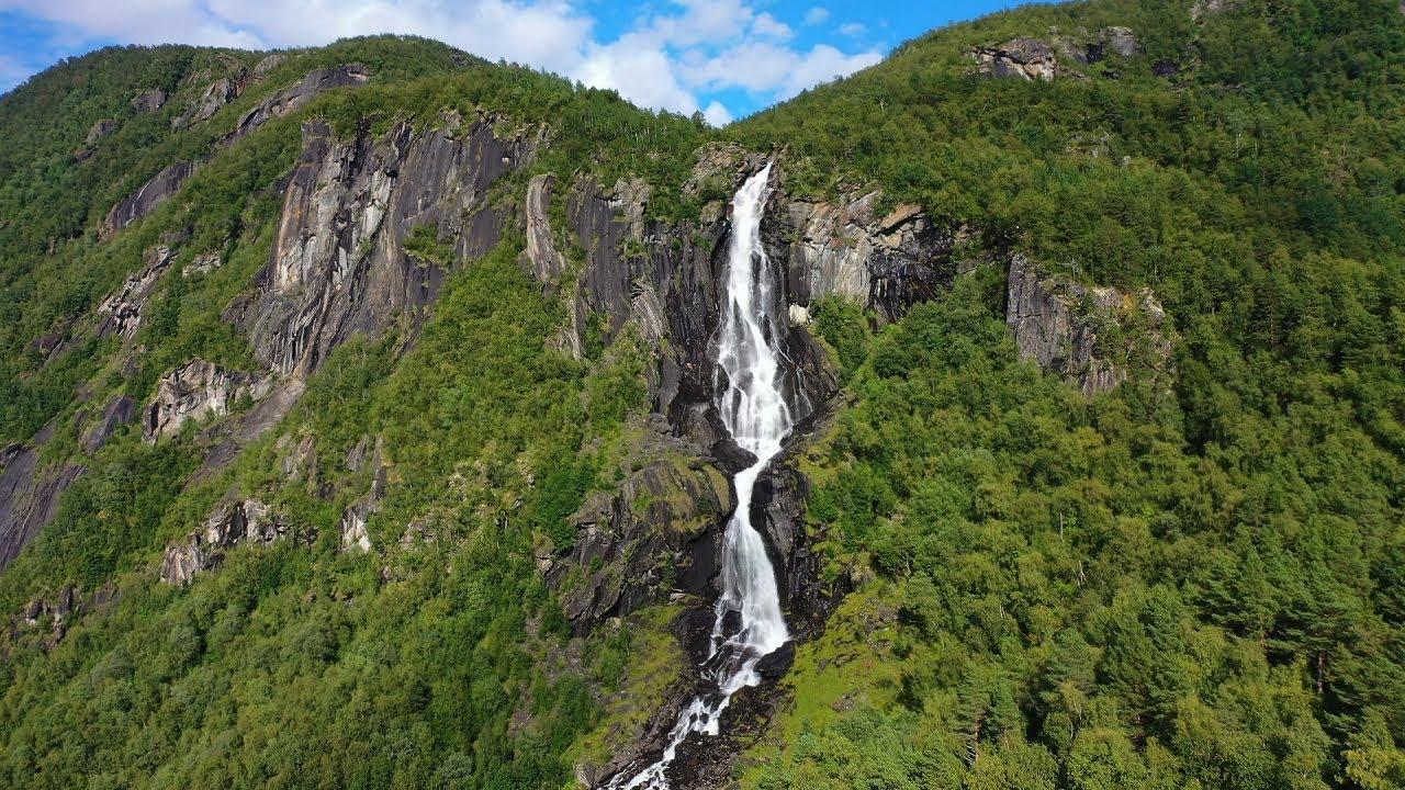 Ingeborgfossen waterfall in Saltdal