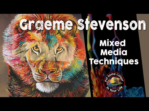 Fine Art Tips with Graeme Stevenson at home on Colour in Your Life- Colours of Fear