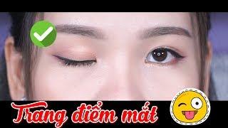 Cách trang điểm mắt cơ bản dành cho người mới học makeup - Đơn giản & dễ áp dụng | Tiny Loly