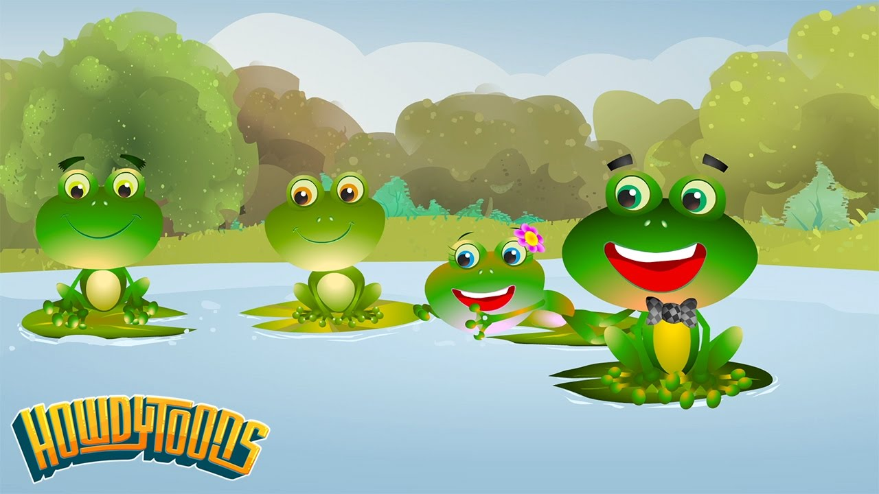 Four little frogs