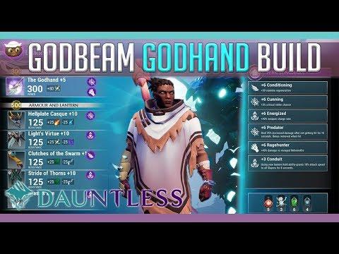 Dauntless Builds   The GodBEAM Godhand Build - YouTube