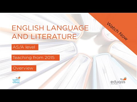 WJEC Eduqas GCE AS/A English Language and Literature - New Specifications