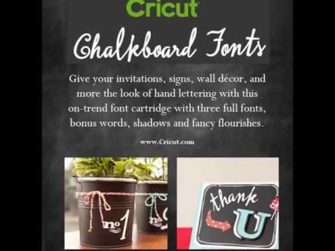 Cricut Chalkboard Fonts Cartridge  Everyday Cartridge