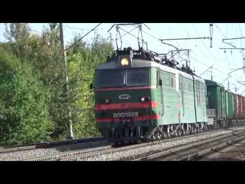 Электровозы ВЛ10К-928/1508 и ЭП2К-319 с поездами