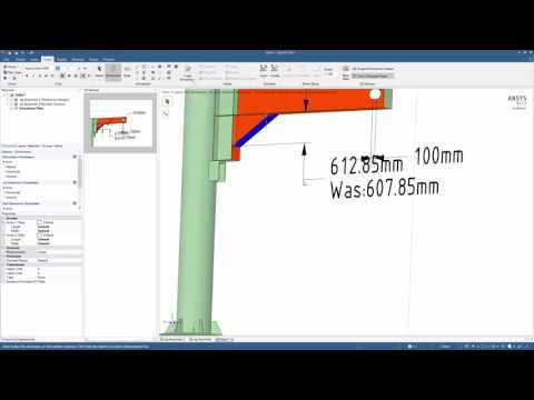 ANSYS Integrated Multiphiysics (AIM): Analysis Of A Jib Crane - Part 5 (Results Presentation)