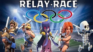 Clash royale olympics relay race | which team is the fastest ?